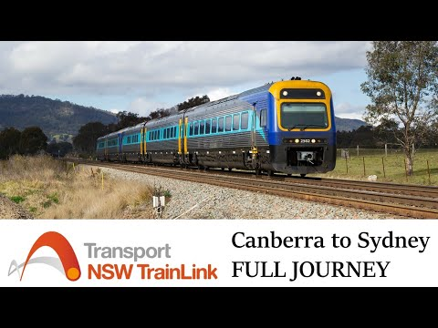 Canberra to Sydney by Train - FULL PASSENGER VIEW