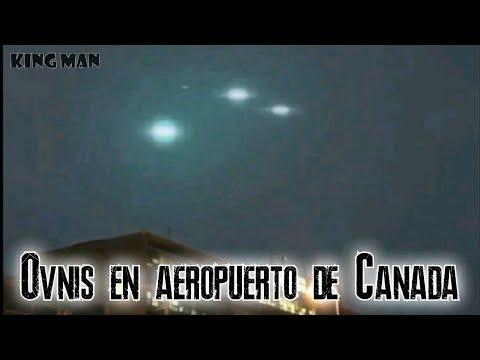 Ovnis aparecen sobre el aeropuerto de Dorval en Montreal Canadá