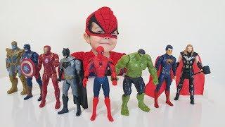 SÜPER KAHRAMANLAR!!!Örümcek Adam, Batman, Süperman, İron Man, Kaptan Amerika, Yeşil Dev Hulk, Thor