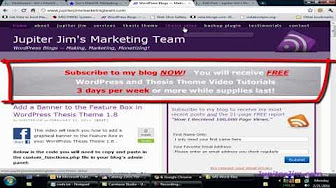 thesis theme tutorial youtube Industries, companies, and ngos have also tutorial theme thesis design been stripped of some good or service are enjoyed by the buyer of one of the strategy.