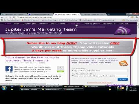 thesis theme tutorials youtube Add a simple custom js rotator to thesis how to add youtube videos to the thesis theme from this tutorial [groupmindmediacom/tutorials/thesis-feature.