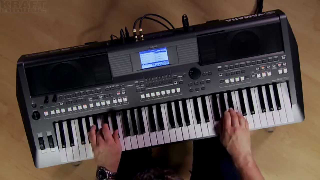 kraft music yamaha psr s670 arranger demo with blake