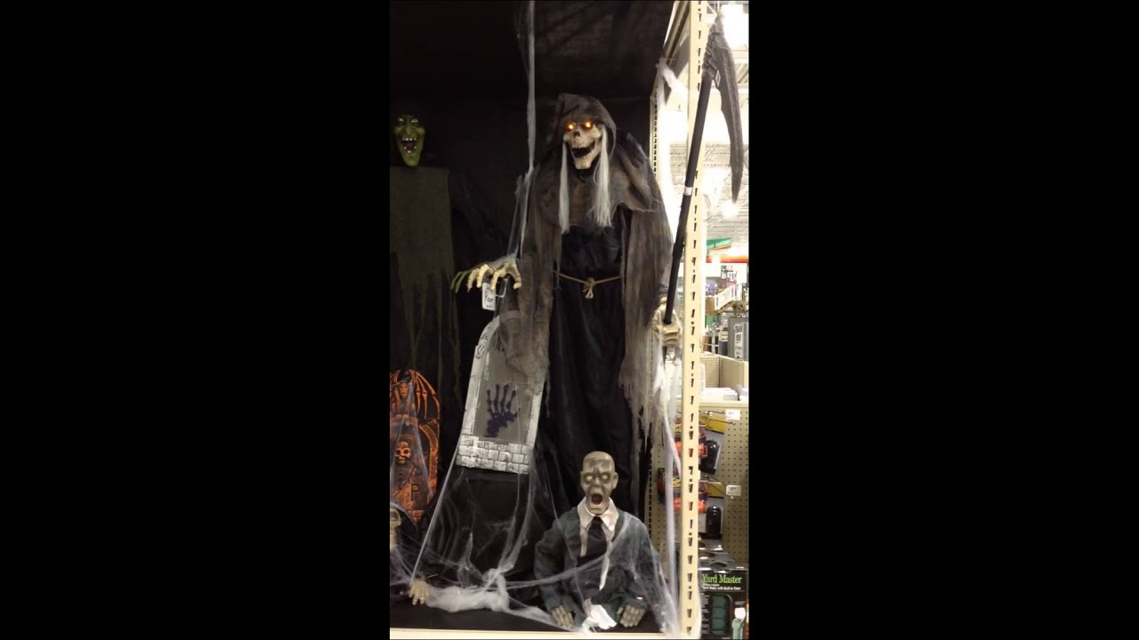 menards halloween 2015 lurching reaper - Menards Halloween Decorations