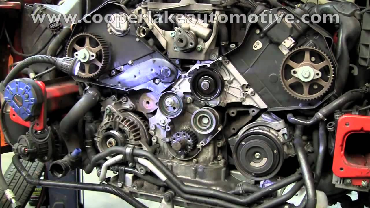 Audi V6 Timing Beltmp4  YouTube