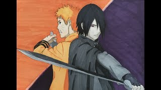 Speed Painting/Coloring Sasuke and Naruto