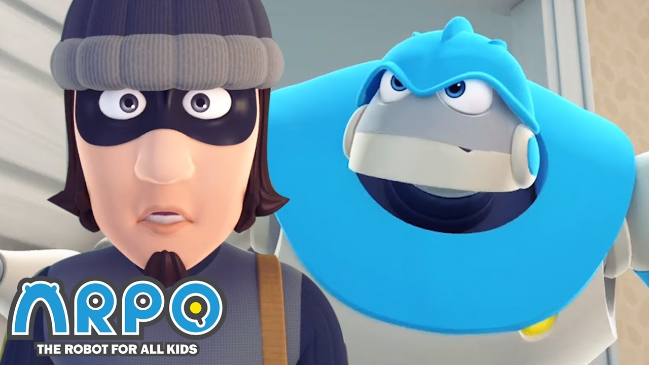 Arpo the Robot | Burglar! | Best Moments | Funny Cartoons for Kids | Arpo and Daniel