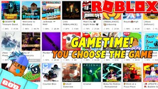 🔴ROBLOX GAMETIME! | YOU CHOOSE THE GAME!| #RoadTo11k | ROBLOX LIVE Stream🔴