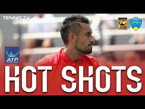 Kyrgios Fires Thunderbolt In Cincinnati 2017 Hot Shot