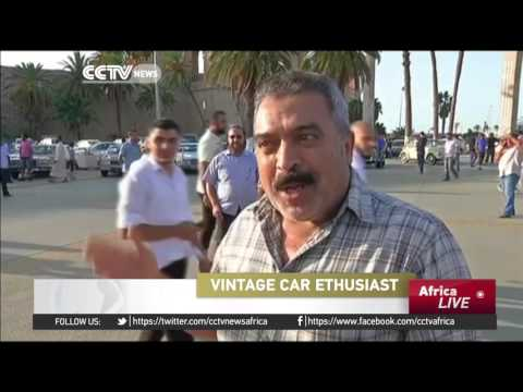 Classic car collectors show off their vintage vehicles in Tripoli
