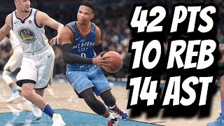 Russell Westbrook Full Highlights vs Warriors Triple Double! (11.22.2017) NBA LIVE 18