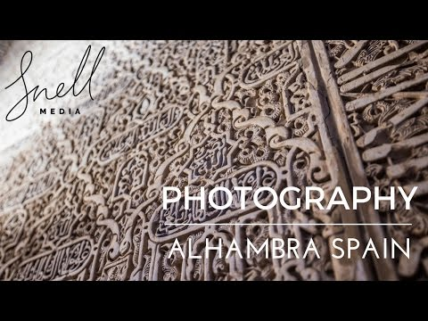 Travel Photography at the Alhambra in Granada Spain