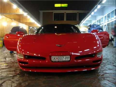 Red Corvette C5 in Skopje Macedonia(pictures)