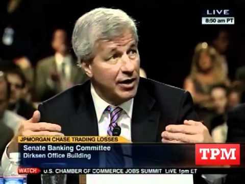 Jeff Merkley Challenges Jamie Dimon On JPMorgan Bailout