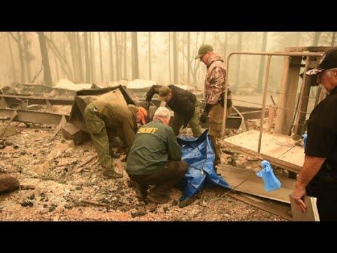 Lucha contra incendios en california que dejan 25 muertos