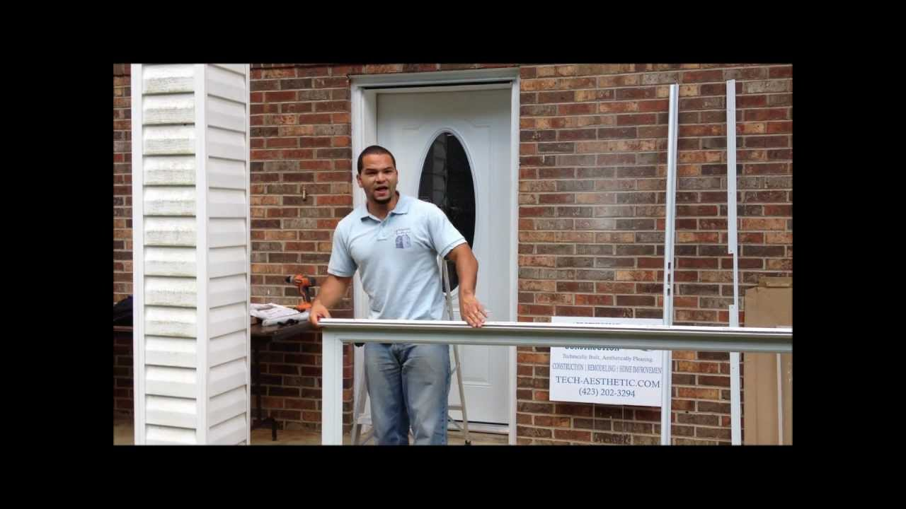 Installing a fullview Andersen Emco Storm Door Part 1 - YouTube