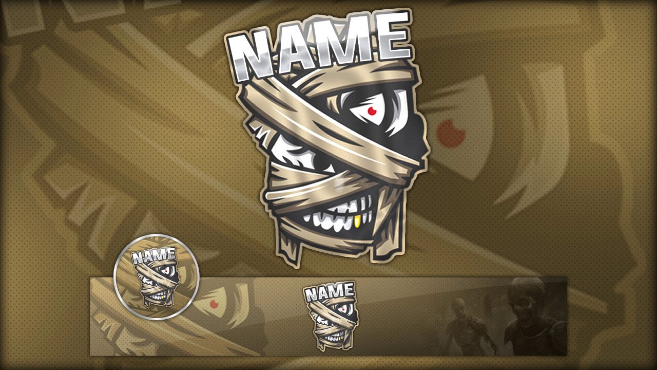 Free Gaming Logo Banner Template Psd Youtube