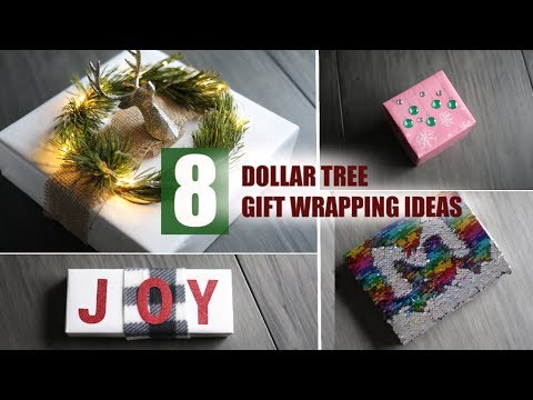 8 EASY DOLLAR TREE GIFT WRAPPING IDEAS