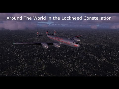 Around The World in the Lockheed Constellation KIAD to KPHL (The Yoke Disaster!)
