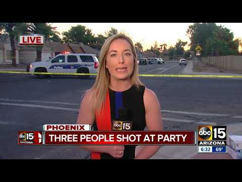 Three shot at party in west Phoenix