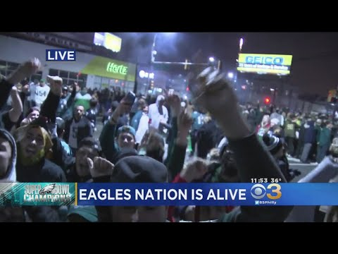 Eagles Fans In Mayfair Sing Fight Song
