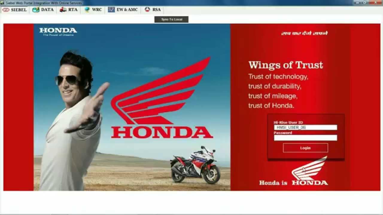 Honda Hirise Integration With RTAEWWRC RSA