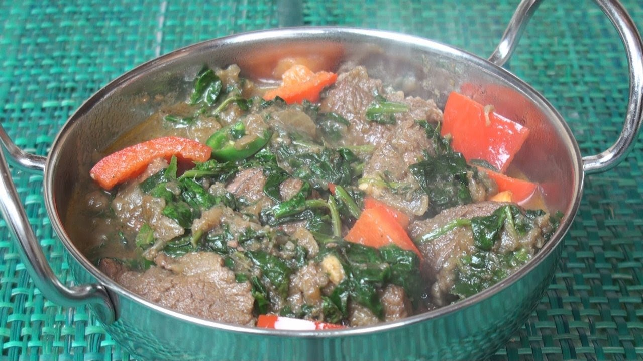 Sag Gosht Lamb And Spinach Curry