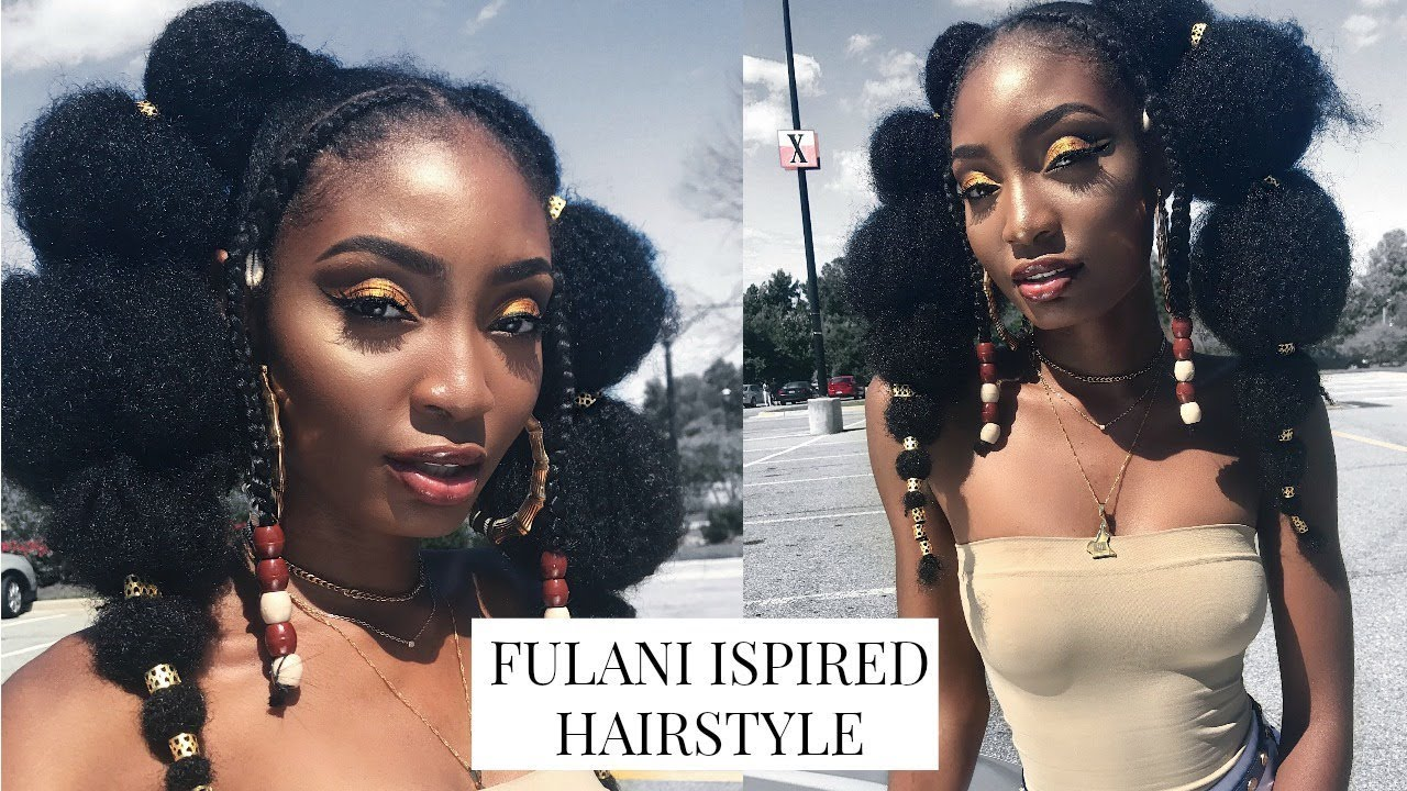 FULANI INSPIRED HAIR TUTORIAL| AFRICAN BRAIDS AND BEADS | Miss.Cameroon