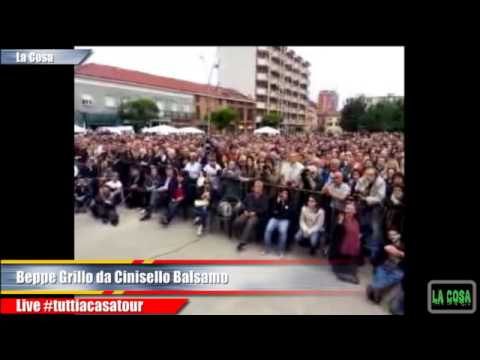 BeppeGrillo #tuttiacasatour Cinisello Balsamo