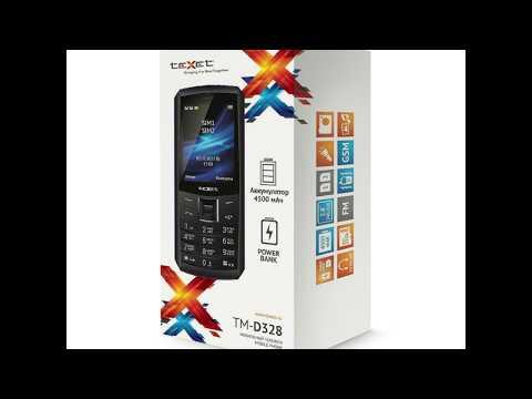 Обзор кнопочного телефона Texet TM-D328
