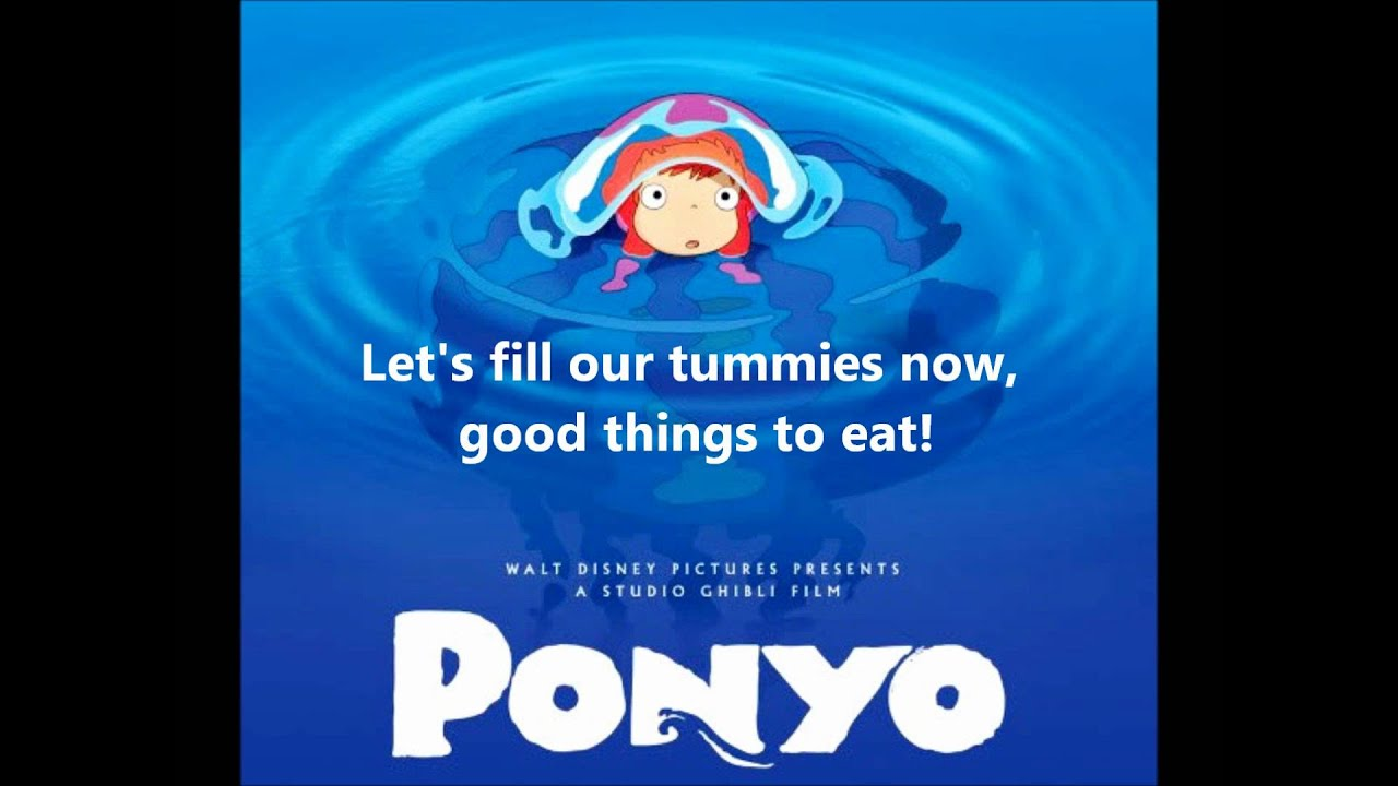 Ponyo On The Cliff By The Sea Lyrics Full Song Youtube