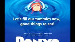 Ponyo on the Cliff By the Sea - Lyrics [Full song]