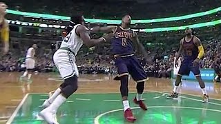 J.R. Smith Punches Jae Crowder in the Face After Kendrick Perkins Shoves Him