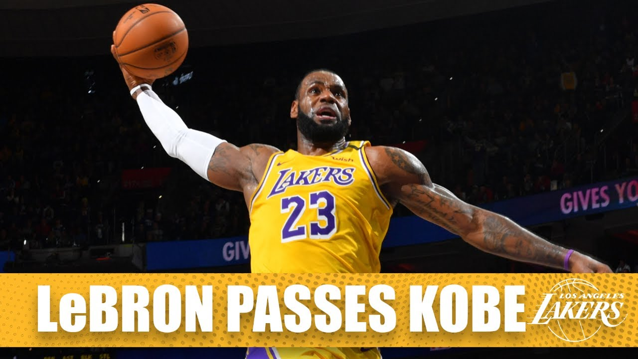Watch LeBron James pass Kobe Bryant on the NBA all-time scoring ...