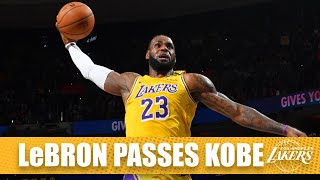LeBron James passes Kobe Bryant for third on the all-time scoring list | 2019-20 NBA Highlights