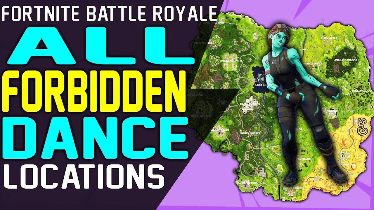 Fortnite All Dance In Forbidden Locations Season 7 Week 1 Challenge