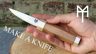 Making a woodcarving knife - start to finish