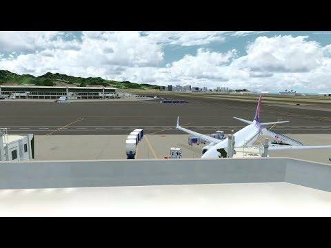 P3D v4.1 PMDG 737,747 Hawaiian island tour video