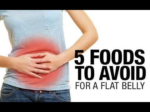 5 Foods To Avoid For a Flat Belly (STOP BLOATING & INDIGESTION!!)