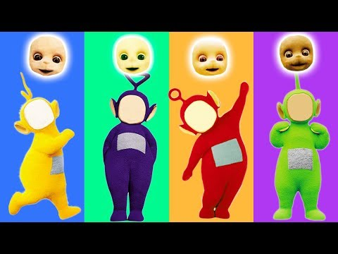 Wrong Face Teletubbies Babies Learn Colors Finger Family Song Nursery Rhymes for Kids