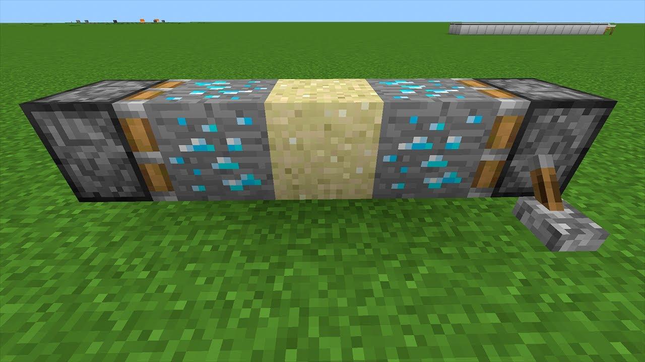 diamond ore + sand + diamond ore = ???