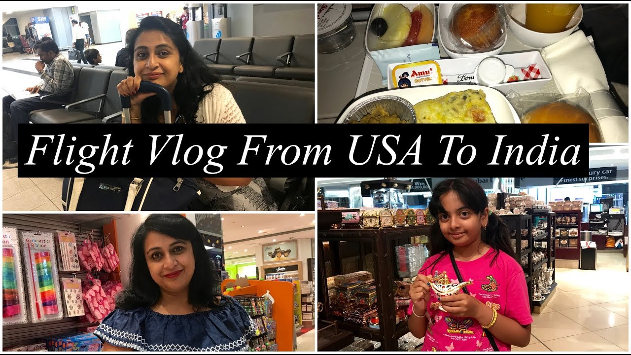 Flight Vlog From USA to India ||Shopping In Dubai Airport || Simple Living  Wise Thinking