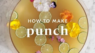 How To Make Punch: Pineapple Lime