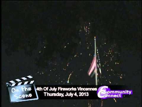 Vincennes Indiana July 4th 2013 Fireworks