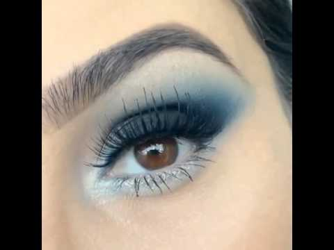 Maquillaje tonos azules y plata youtube - Tonos azules ...