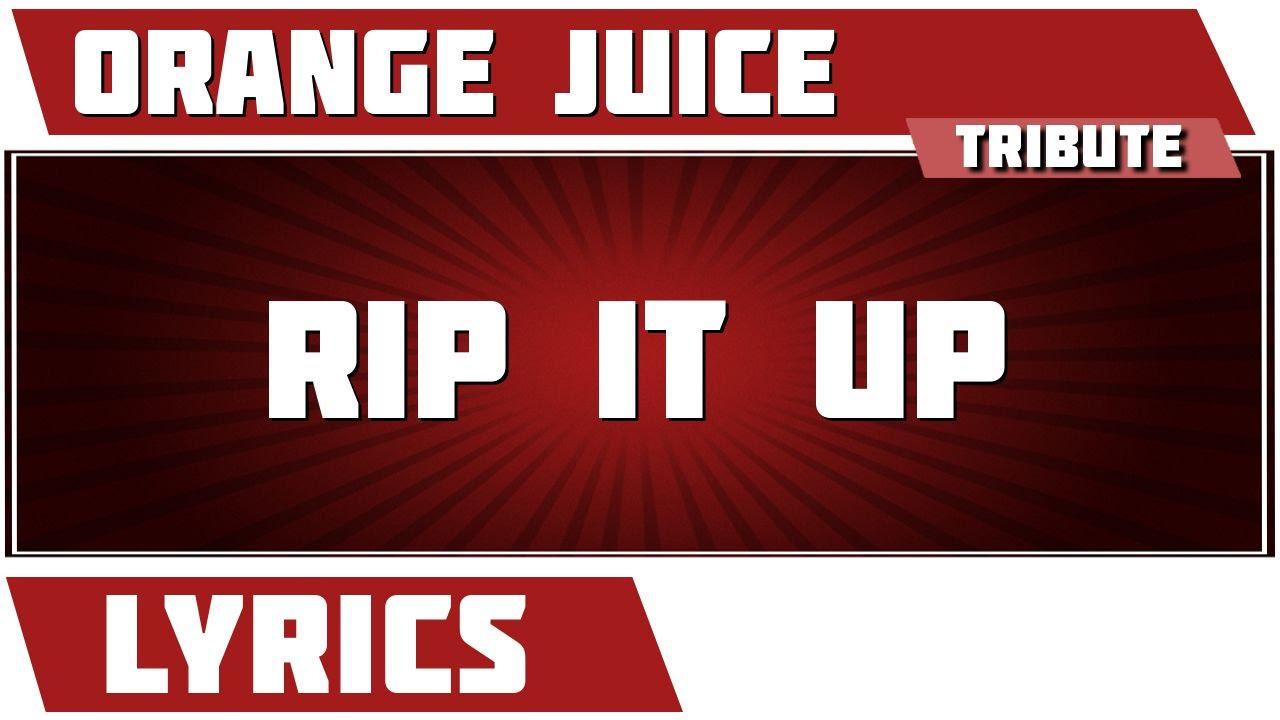 Rip It Up - Orange Juice tribute - Lyrics - YouTube