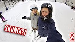 SNOWBOARDERS TRY TO SKI!
