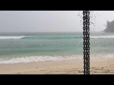 Rain Storm at Anse Barbarons Seychelles