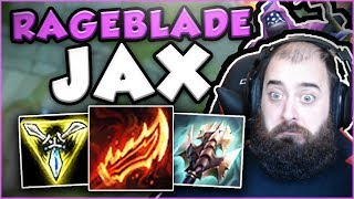 THIS RAGEBLADE JAX BUILD IS LITERALLY UNSTOPPABLE! RAGEBLADE JAX TOP GAMEPLAY! - League of Legends