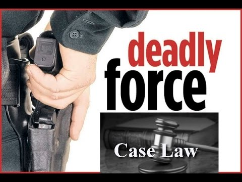 Case Law For Police Use Of Force and Deadly Force - Understanding Reasonable
