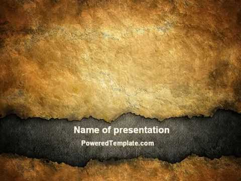 Old Parchment Powerpoint Template By Poweredtemplate.Com - Youtube